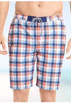 Izod Plaid Swim Shorts