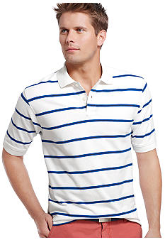 Izod New Fit Stripe Pique Polo
