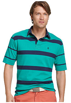 Izod Stripe Rugby Polo
