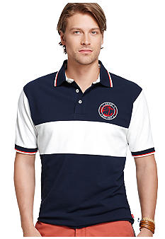 Izod Tri-Color Rugby Shirt