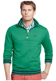 Izod French Terry Stripe 1/4 Zip Pullover