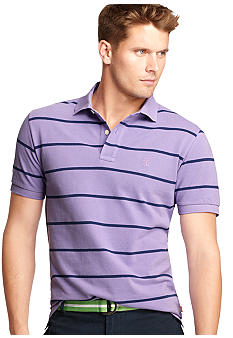 Izod Short Sleeve Slim Fit Pique Stripe
