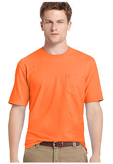 Izod Short Sleeve Solid Jersey Crew Fashion Tee