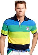 Izod Engineered Stripe Pique Polo
