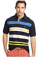 Izod Oxford Pique Engineered Stripe Polo
