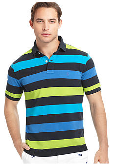 Izod Wide Stripe Pique Polo