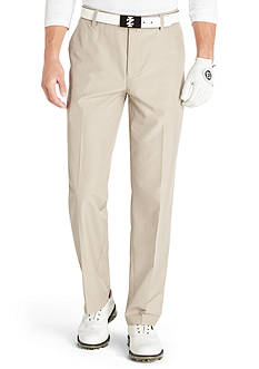 Izod Golf Flat Front Houndstooth Pant