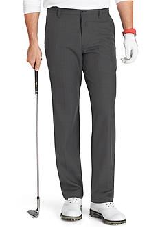 Izod Golf Flat Front Straight Fit Tonal Plaid Pants