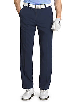 IZOD Straight-Leg Flat-Front Stretch Pants
