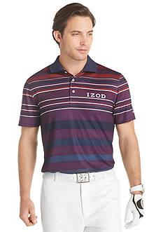 Izod Golf Varsity Stripe Printed Polo