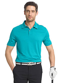 IZOD Golf Short Sleeve Cut Line Stretch Heather Polo Shirt