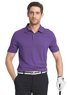 IZOD Short Sleeve Cut Line Stretch Heather Polo Shirt