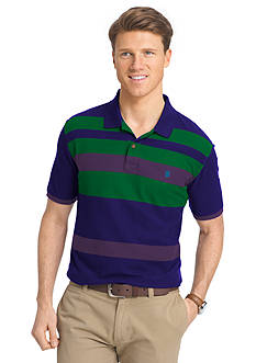 IZOD Short Sleeve Engineered Stripe Polo Shirt