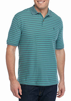 IZOD Short Sleeve Auto Stripe Polo Shirt