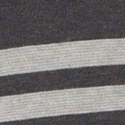 Guys Sweaters: Crew Neck: Black Heather IZOD Chest Stripe Field House Sweater