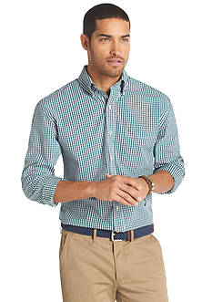 Izod Checkered Essential Woven Button Down Shirt