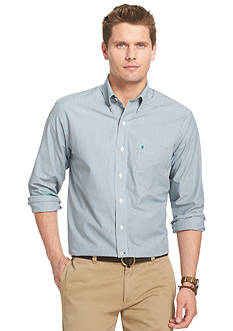 Izod Woven Button Down Shirt with Pocket