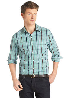 Izod Wide Plaid Essentials Woven Button Down