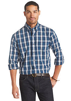 Izod Plaid Woven Button-Down