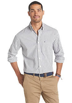 Izod Long Sleeve Essential Woven Button Down Shirt