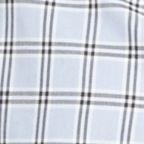 Young Men: Izod Casual Shirts: Brunnera Blue IZOD Long Sleeve Plaid Woven Shirt