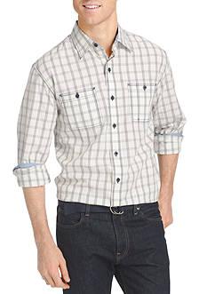 IZOD Long Sleeve Check Woven Shirt