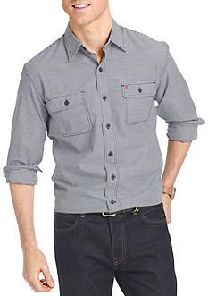 IZOD Long Sleeve Gingham Woven Shirt