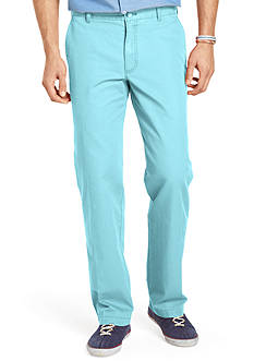Izod Straight Fit Saltwater Flat Front Pants