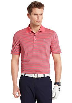 Izod Golf Short Sleeve Stripe Jersey Polo