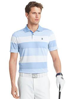 Izod Golf Striped Mesh Back Polo