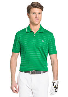 IZOD Golf Mesh Striped Golf Polo Shirt