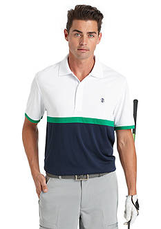 IZOD Golf Derby Color Block Golf Polo Shirt