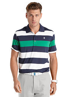IZOD Golf Eagle Rugby Striped Golf Polo Shirt