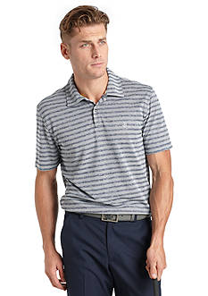 IZOD Golf Proper Pique Heather Stripe Polo Golf Shirt