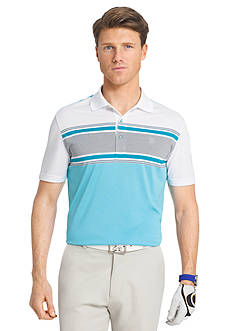 IZOD Golf Short Sleeve Members Engineered Stripe Polo Shirt