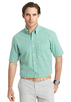 Izod Button-Down Plaid Woven Shirt