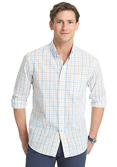 Izod Button-Down Plaid