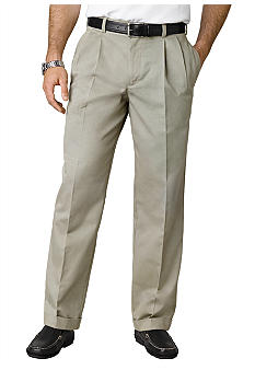 Izod American Chino Classic Pleat Front Twill Pants