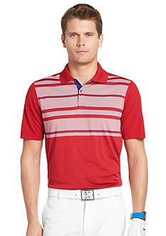 Izod Golf Mesh Accent English Stripe Polo