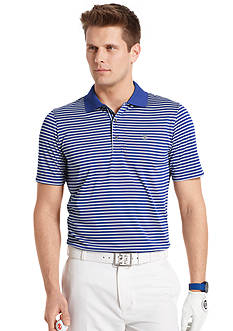 IZOD Golf Short Sleeve Clubhouse Stripe Jersey Polo Shirt