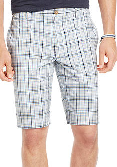 Izod Plaid Bermuda Shorts