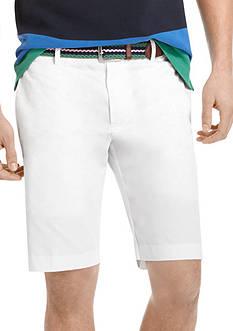 Izod Flat-Front Poplin Bermuda Shorts