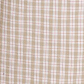Mens Flat Front Shorts: Cedarwood Khaki IZOD Belted Poplin Plaid Shorts