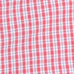 Mens Flat Front Shorts: Saltwater Red IZOD Belted Poplin Plaid Shorts