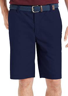 IZOD Poplin Flat Front Shorts