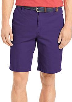 IZOD Saltwater Flat Front Twill Shorts