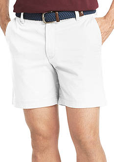 IZOD 7-in. Saltwater Washed Chino Flat-Front Shorts