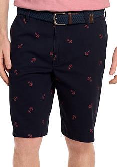 IZOD Flat Front Schifli Printed Shorts