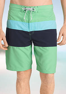 IZOD Horizontal Stripe Board Shorts