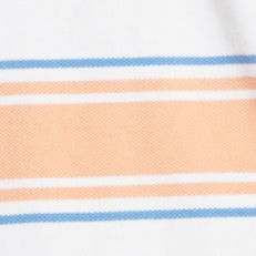 Mens Short Sleeve Polo Shirts: Shell Coral IZOD Auto Stripe Pique Polo